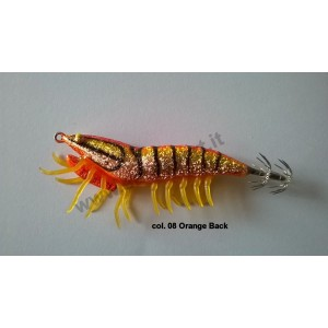 Savage gear 3d hybrid shrimp 7,5cm 12gr egi jig glitter col. 08 orange back - savage gear