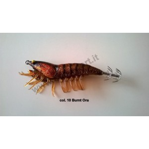 Savage gear 3d hybrid shrimp 7,5cm 12gr egi jig glitter col. 10 burnt ora - savage gear