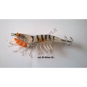 Savage gear 3d hybrid shrimp 7,5cm 12gr egi jig mirror col. 02 silver gl. - savage gear