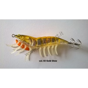 Savage gear 3d hybrid shrimp 7,5cm 12gr egi jig mirror col. 03 gold glow - savage gear