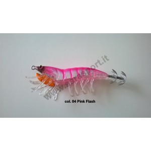 Savage gear 3d hybrid shrimp 7,5cm 12gr egi jig mirror col. 04 pink flash - savage gear