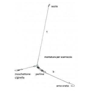 Montatura per scarroccio 2 ami misura n°4 - lucky worms