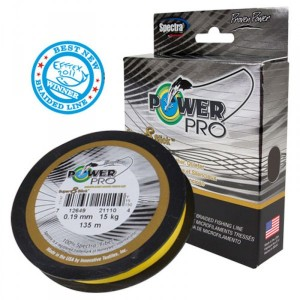 Power pro super 8 slick giallo 135 m 0,32 mm - power pro